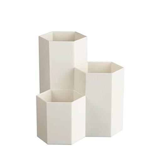 BIGBIGWORLD Solid geometrisch patroon Nordic Style Pennenhouder Multifunctioneel plastic container Creative zeshoekige vaas bureau decoratie