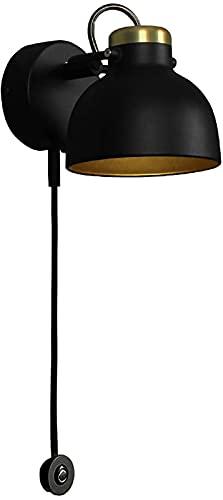 Lámpara de pared Luz de pared LED moderna, lámpara de lectura de la lámpara de pared de metal interior, interruptor táctil, ángulo ajustable de la cabeza de la lámpara, iluminación de pared para sala
