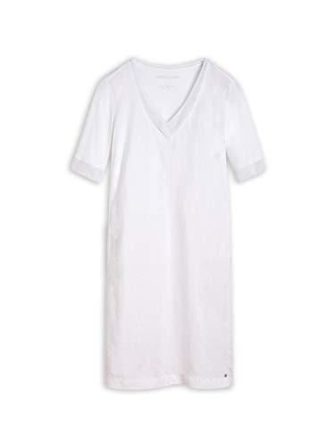 Sandwich Damen Kleid aus Leinen mit Netzdetails