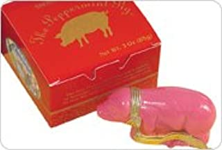 Saratoga Sweets Peppermint Pig HOLLY 3oz Ornament In Gift Box - Pack of 10