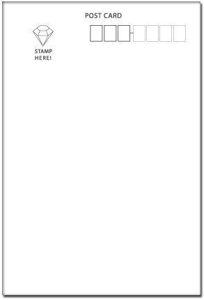 『100枚入り ポストカード印刷用 宛名面はがき(1面)』の1枚目の画像