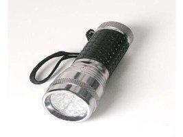 Mini lampe torche LED pour porte-clés – couleur: chrome - (aide à conserver l'énergie)