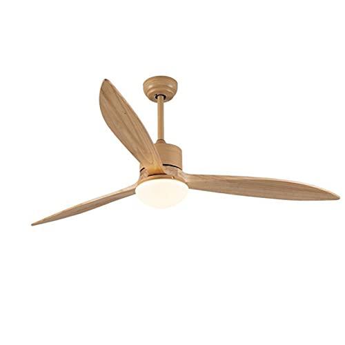 Ventiladores de techo con lámpara y control remoto, candelabro de 64 pulgadas, iluminación de techo, silencioso, ajustable, velocidad del viento, 6 velocidades, regulable, ventilador de techo
