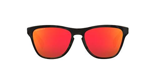 Oakley Frogskins XS, Gafas Unisex Adulto, Matt Schwarz Camo/Prizm Ruby, 53 cm