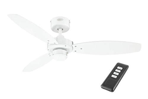 Westinghouse Deckenventilator ohne Licht Jet 105 cm für Räume bis 12 m², [Modell/Farbe]:Weiß mit Fernbedienung