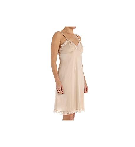 Vanity Fair Women's Full Slips for Under Dresses, 22' - Lace - Neutral, Large