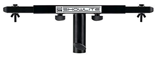Showlite SAT-02 T Dual Quertraverse (Querträger für 2 Scheinwerfer, aufsteckbar auf 35 mm Stativrohr, Stahl) schwarz