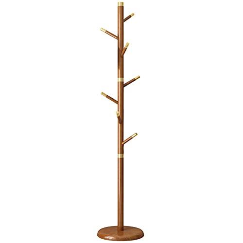 Capa de árbol Soporte de árbol de árbol de árboles con tamaños ajustables Ejecute Conjunto Libre de madera Pendientes de cobre de madera Soporte de suspensión para ropa sombreros sombreros paraguas