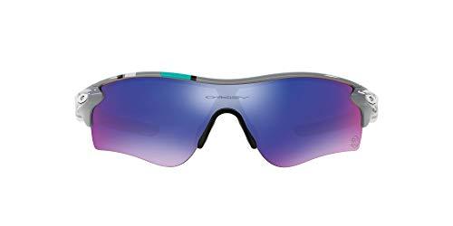 Oakley - Gafas de sol Pantalla Radarlock Path para hombre, HERITAGE Fog/Red...
