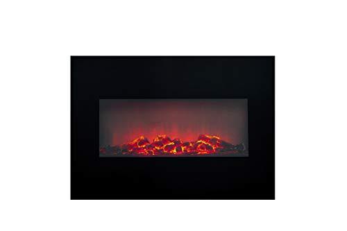 Classic Fire - Stufa elettrica effetto camino, 1800 W, 13 x 66 x 46 cm, colore: Nero