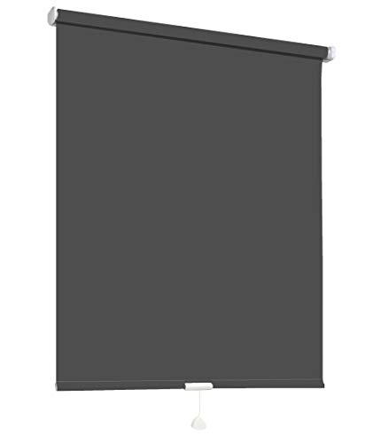 Springrollo Mittelzugrollo Schnapprollo Fenster Rollo Vorhang 16 Farben Breite 62-242 cm Höhe 160 und 230 cm blickdicht lichtdurchlässig Sonnenschutz Sichtschutz Blendschutz (122 x 160 cm Anthrazit)