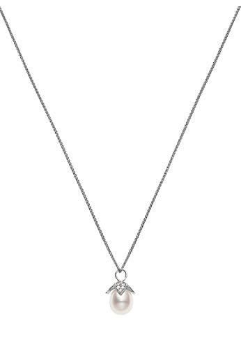 CHRIST Damen-Kette 925er Silber rhodiniert Süßwasser One Size 87523519