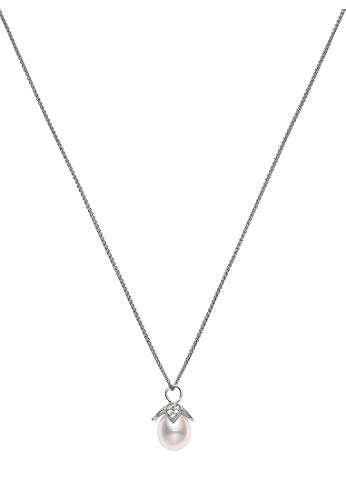 CHRIST Pearls Damen-Kette 925er Silber Süßwasser One Size 87523519