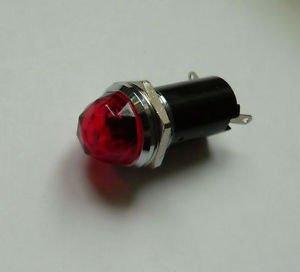 Jellyfish Audio Lámpara piloto cromada roja de 6 V para Fender Guitarra...