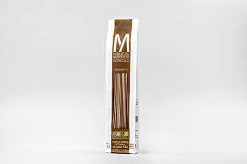 Mancini Pastificio Agricolo - Spaghetti integrali 2 kg (4 confezioni da 500 gr)