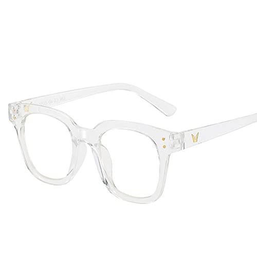 YTYASO Montura de Gafas ópticas Transparentes a la Moda para Mujer, Montura de Ojo de Gato para Hombre, Montura de Gafas Colorida