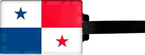 metALUm   Gepäckanhänger Adressanhänger Kofferanhänger verdecktes Adressfeld Flagge Panama stabiles Kofferschild 3001105