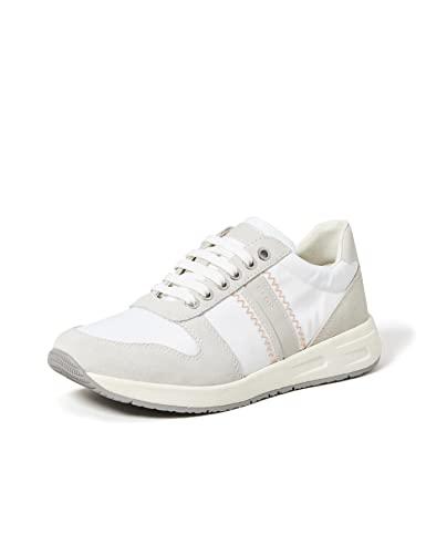 Geox D BULMYA A, Zapatillas Mujer, Color Blanco, 37 EU