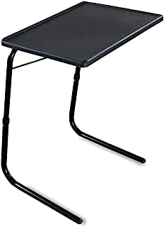 Gadget Wagon Table Black Strong and Sturdy for Studies, Laptop, Patient Dining, Foldable, Multi Purpose. Made in India.