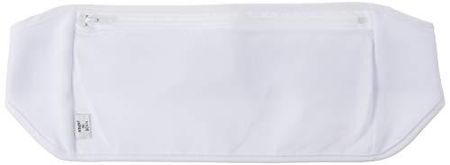 Amina 旅行用 シークレットベルト 腹巻き 仕様 の ウエストポーチ (パスポート などに) Sサイズ ホワイト