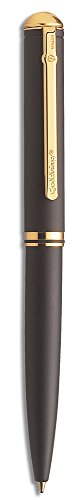 Trodat 304120 Goldring Grandomatic, exklusiver Stempelkugelschreiber matt schwarz, Stempel individuell gestaltbar, Mine blau