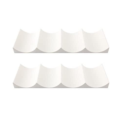 KIKIOK - Botellero de plástico (2 unidades), diseño europeo, color blanco