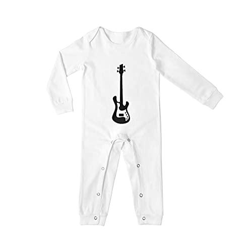 Bass Guitar Long Sleeves Baby Onesies For Boys Girls Novelty Infant Newborn Bodysuit Pajamas