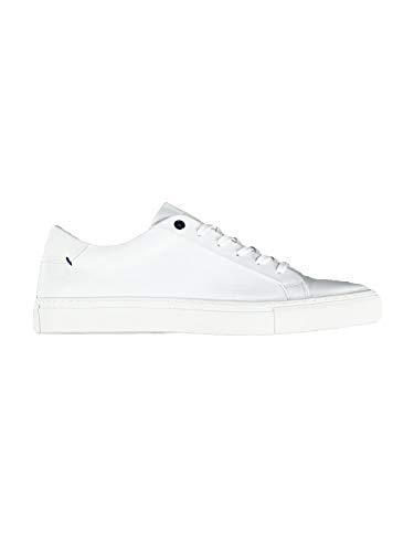 engbers Herren Sneaker weiß aus Rindsleder, 29404, Weiß in Größe 43
