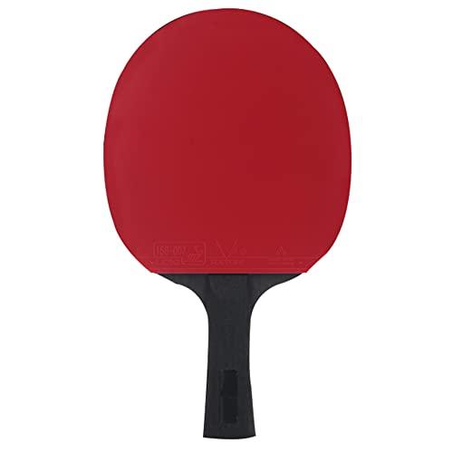 LINGOSHUN Paleta de Ping Pong de Rendimiento Avanzado,Aprobada por la ITTF,Raquetas de Tenis de Mesa para Entrenamiento de Alto Nivel, Goma Ofensiva / 9 Stars/Long handle