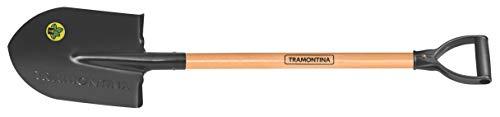 Tramontina Schaufelspaten, Länge 95 cm, Stiel mit D-Griff, braun