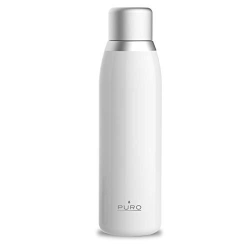 Borraccia Termica Puro Smart con tappo LCD touch sensitive, indica temperatura, 500 ml, acciaio INOX, colore: Bianco