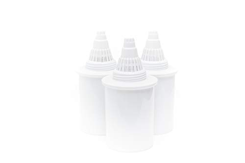 Plant Based Pros Certified 3-Pack Alkaline Water Pitcher Filter Replacement Water Pitcher (Compatible with Many Brands)