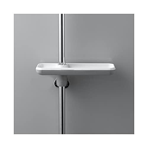 DWQ Punch-Free Faucet Tubería de Agua Colgando Estante de Ducha, Caja de Almacenamiento de Ducha de Drenaje de Doble Capa para baño/Cocina (Color : Grey-1)