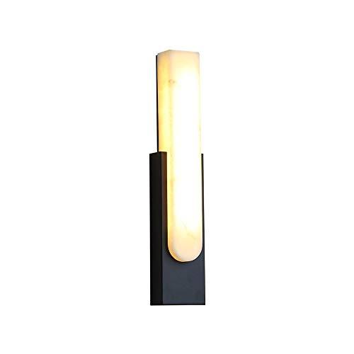 Wmdtr Postmoderno Creativo Mármol Linterna Personalidad Simple Negro Lámpara de Pared Hardware Lámpara Lámpara Aplicaciones de la Pared para la Sala de Estar Sala de Estudio de la habitación