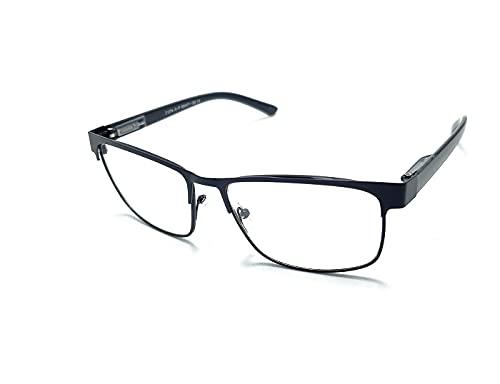 Óculos Armação Masculino Metal Com Lentes Sem Grau Zf-2 Cor: Preto