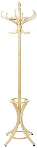 Headbourne Hr8086X - Perchero de pie (con gancho para sombrero y abrigos y soporte para paraguas, madera)