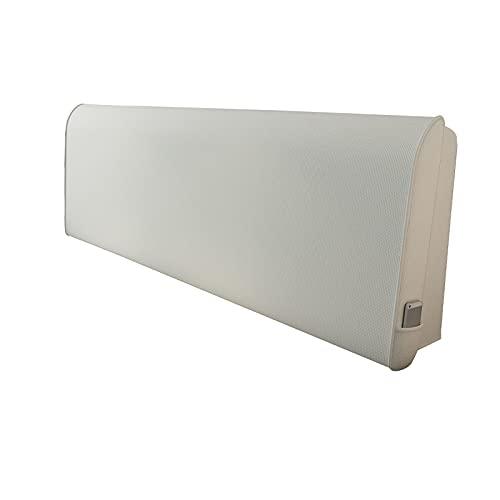 Cojín de Cabecera Cama, Cabeza Lumbar Apoyo Grande Respaldo Almohada, Retirable Lavable Cabecera Tapizado Amortiguar por Leer Mirando, 9 Tamaños (Color : White, Size : 150x60cm)
