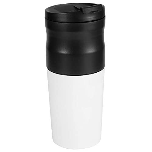 N&G Accesorios para Sala de Estar Molinillo de Grano eléctrico Preservación del Calor 1200 mAh Acero Inoxidable USB Molinillo de café Multifuncional Taza portátil para Oficina en casa (Blanco)