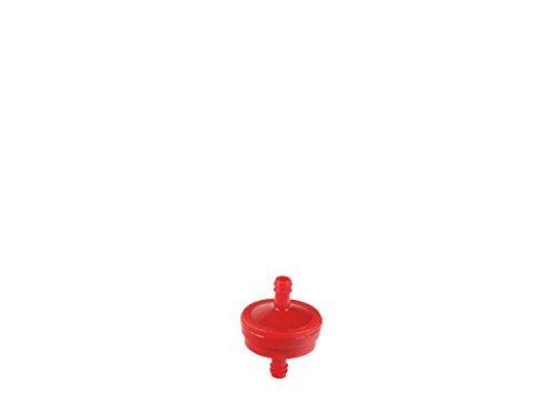 Ratioparts p.f. Briggs & Stratton Motoren mit Benzinpumpe, rot Kraftstofffilter Durchmesser 7,7 mm