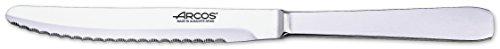 Arcos Serie Cuchillos de Mesa, Cuchillo Mesa, Hoja Serrada de Acero Inoxidable de 125 mm, Cuchillo Monoblock Acero Inoxidable Color plata