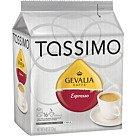 Tassimo Coffee T-discs; Gevalia, Espresso, 16/box