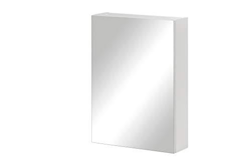 Schildmeyer Basic Spiegelschrank 146427, weiß Glanz, 50 x 70,7 x 16 cm