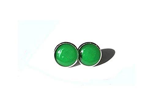 Pendientes verdes – pendientes de oreja verde – pendientes de poste verde – joyería verde oscuro – verde esmeralda joyas