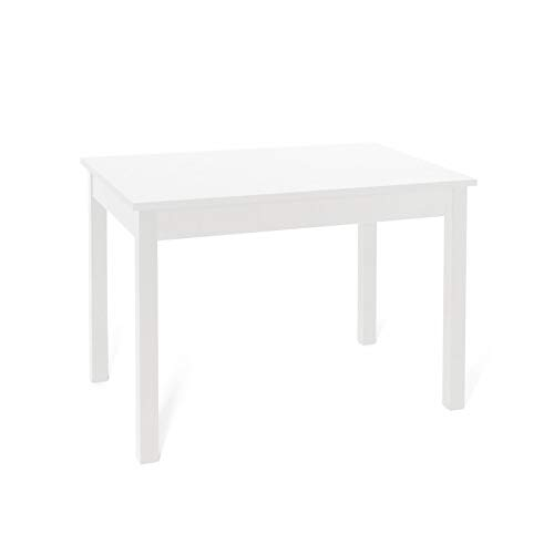 Tavolo da pranzo allungabile interamente in legno cm 80x120/160 bianco