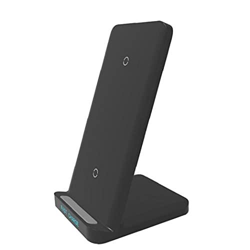 Soporte de cargador rápido inalámbrico para iPhone 12 11 Pro XS MAX XR X 8 SAMSUNG S9 S10 S20 S21 Soporte de carga rápida Cargador de teléfono negro Inteligente Vida