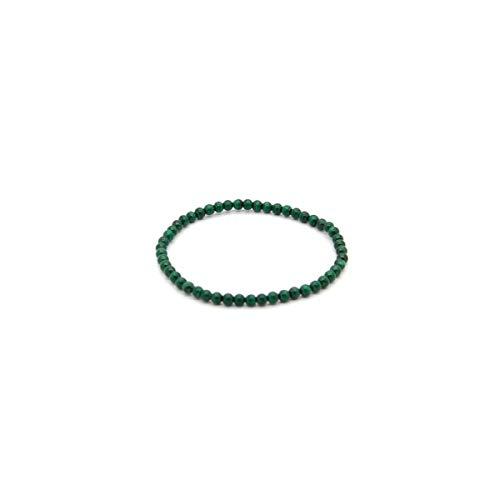 Pulsera Elastica de Malaquita 4 mm Minerales y Cristales, Belleza energética, Meditacion, Amuletos Espirituales