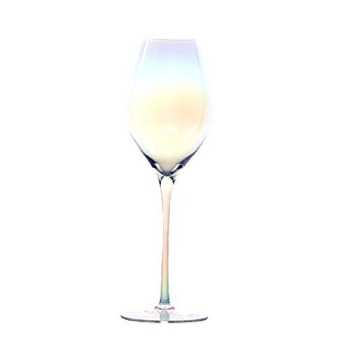 LITHAPP Champagnerglas Champagnerglas Rotwein Glas Kristall Becher Weinglas Mit Transparenter Ionenbeschichtung,C/25.5cm/460ml