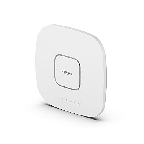 NETGEAR Wireless Access Point (WAX630PA) - WiFi 6 Tri-Band AX6000 Speed | Mesh | 1 x 2.5G Ethernet Port | 802.11ax | MU-MIMO | Insight Remote Management | PoE++ or Included Power Adapter