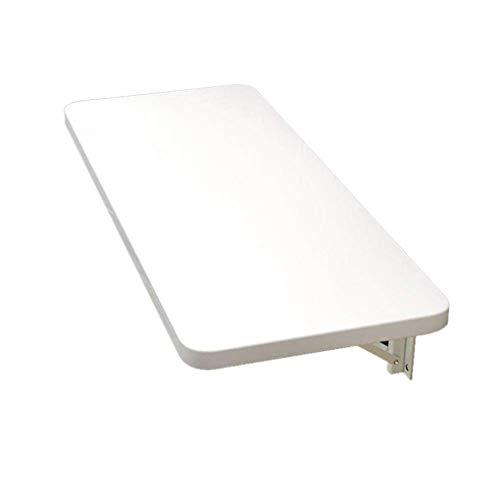 Lsqdwy Mesa Plegable de Pared Blanca Plegable de Pared, Mesa de Comedor Plegable de Hojas abatibles para Espacios pequeños, Mesa de Trabajo Plegable de Pared, Mesa de Trabajo, 60 * 30 cm, 1, 60 * 4