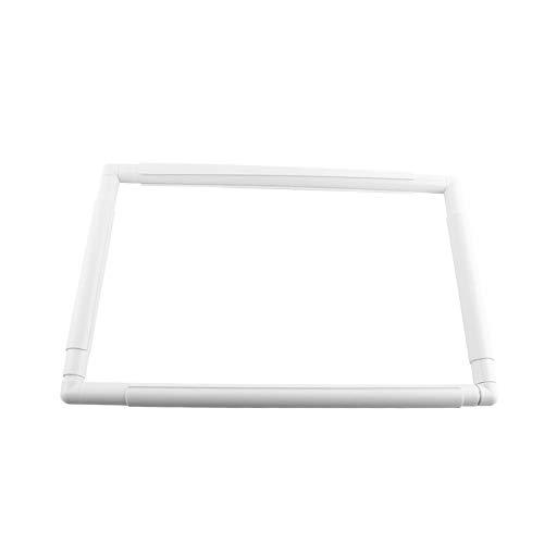 Aro de bordado cuadrado, marco de costura de aros de coser de rectángulo de plástico para coser bricolaje(43.1 * 27.9cm)